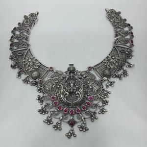 Lakshmi Antique Silver Neckalce
