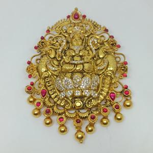Lakshmi Peacock Cz Pendant