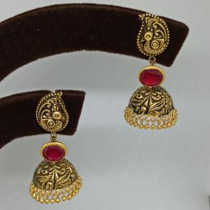 Peacock Antique Nakash Jhumka