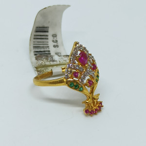 Peacock Colorstone Cz Ring