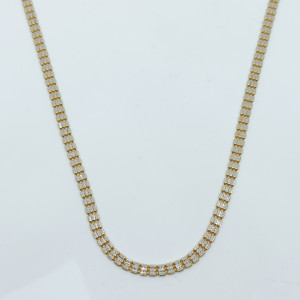 Beads Rhodium Unisex Chain