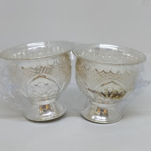 Silver Glass Bowls