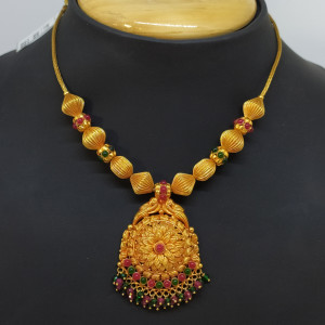 Flower Stone Necklace
