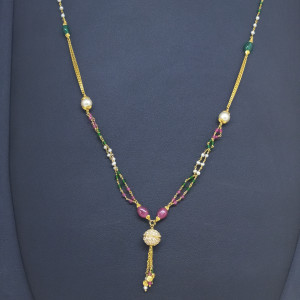 Moti And Stone Chain