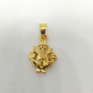 Ganesh With Ladoo Pendant