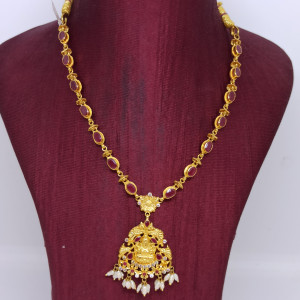 Lakshmi Red Stone Necklace