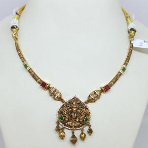 Lakshmi Cz Antique Necklace