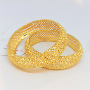 Beads Plain Gold Bangles