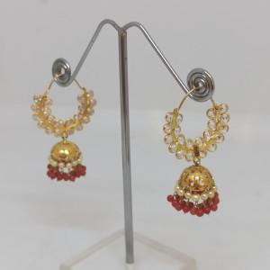 White Stone Cz Earrings
