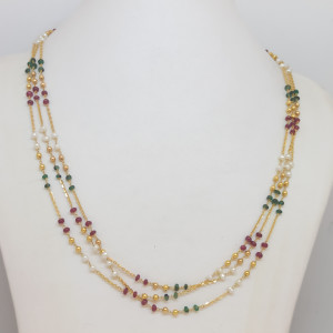 Colourful Pearl Chain