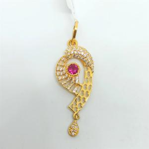 Designer Cz Pink Stone Pendant