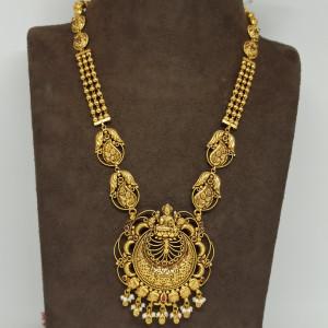 Lakshmi Bead Mala Antique Haram