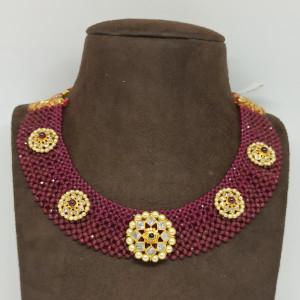 Moti Chadar Kundan Necklace
