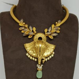 Gajanan Antique Necklace Set