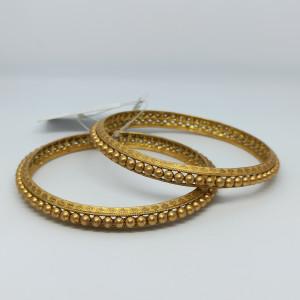 Gold Ball Designer Bangles