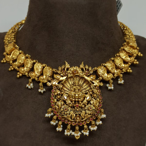 Lakshmi Floral Designer Necklace