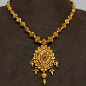 Jhanvi Bead Traditional Necklace