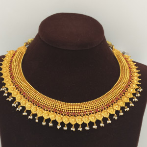 Red Stone Sun Traditional Necklace