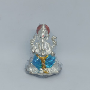 Blue Ganesha Idol