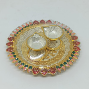 Gold Plated Arti Plate