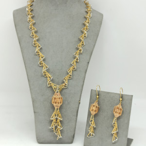 Mesh Necklace And Earring