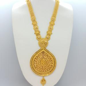 Designer Drop Shape Gold Haram