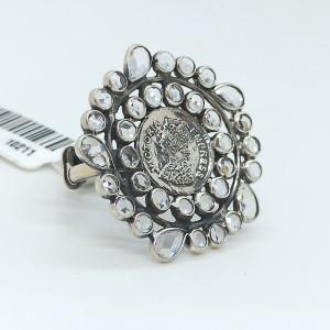 Victoria Cz Oxidized Ring