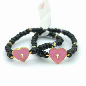 Heart Lock Kid Bracelet