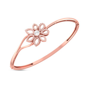 Flower Shape Real Diamond Bracelets