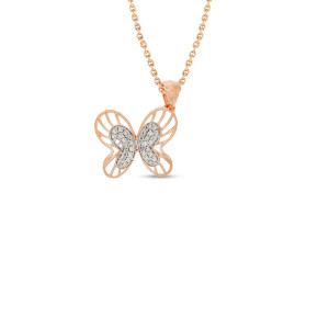 Butterfly Real Diamond Pendant