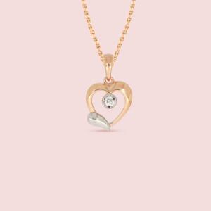 Heart Shape Real Diamond Pendant