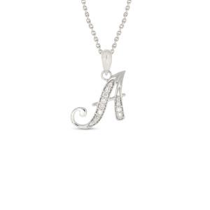 A Word Real Diamond Pendant