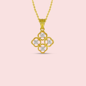 Yellow Gold Real Diamond Pendant