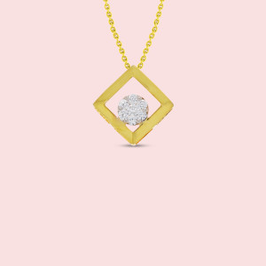 18kt Gold And Real Diamond Pendant