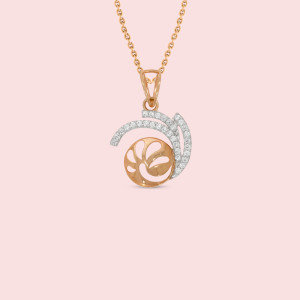 18kt Rose Gold And Real Diamond Pendant