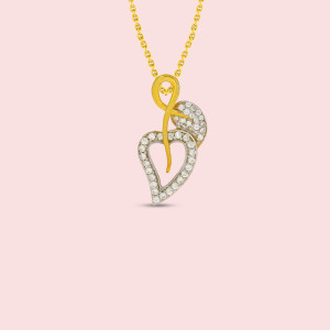 Leaf Shape Real Diamond Pendant