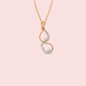 Pear Shape Real Diamond Pendant