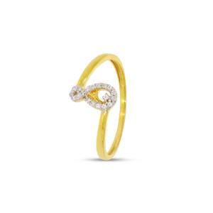 8 Shape Real Diamond Ring