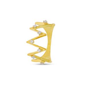 Crown Shape Real Diamond Ring