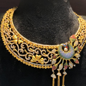 Fancy Peacock Choker