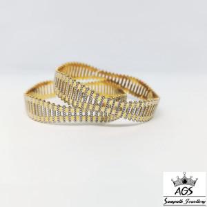 Fancy Rhodium Gold Bangle