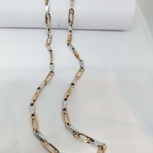 18kt Rose And White Chain