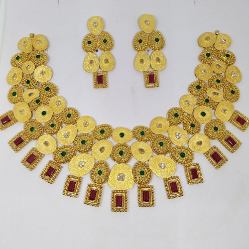 Ruby Ethnic Necklace Sets