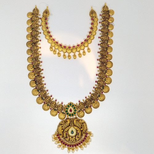 Antique Lakshmi Haram And Necklace Sets