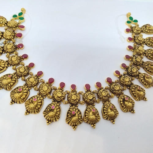 Ruby Antique Peacock Nacklace