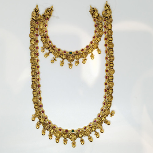 Ruby And Emerald Fancy Antique Haram And Necklace