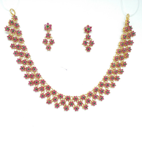 Ruby And Emerald Nacklace Sets