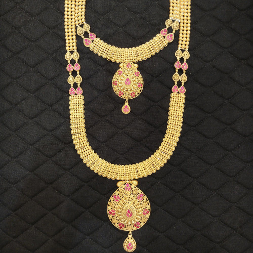Ruby Haram And Necklace