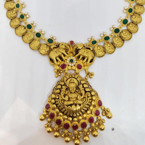 Ruby And Emerald Antique Lakshmi Nack