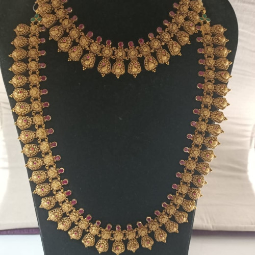 Antique Ruby Nacklace And Haram